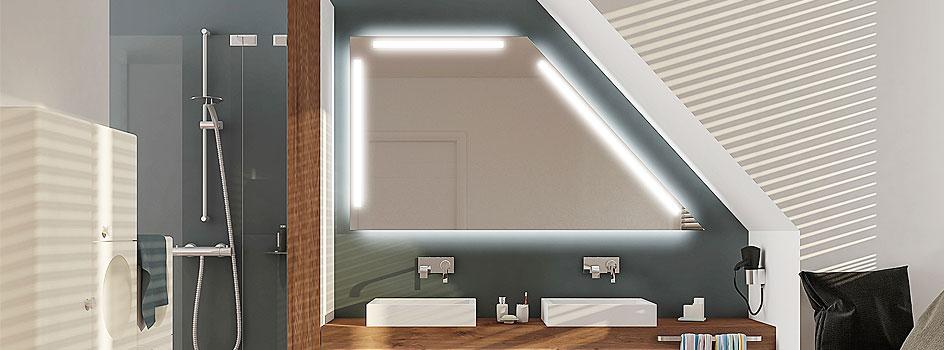 Badspiegel Mit Dachschrage