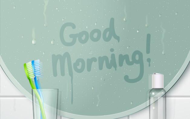 badspiegel putzen und das beschlagen verhindern. Black Bedroom Furniture Sets. Home Design Ideas