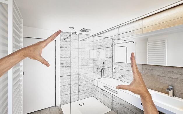 So richten Sie ein schmales Bad ein