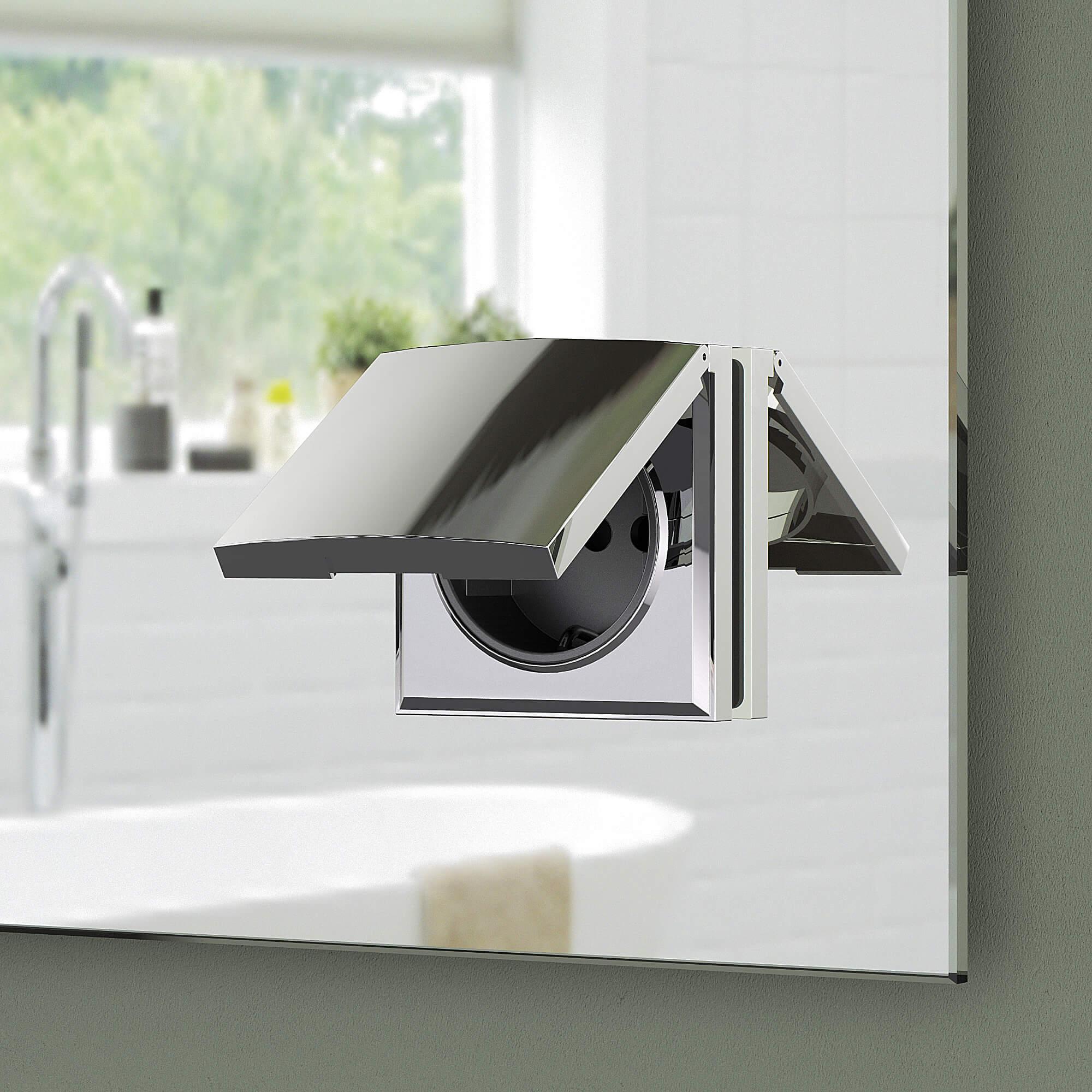 Badspiegel Mit Ablage Badezimmerspiegel Mit Steckdose