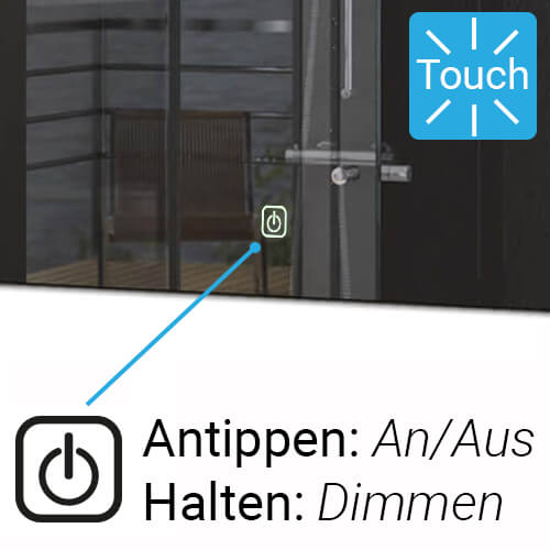 Badspiegel Touch Dimmer