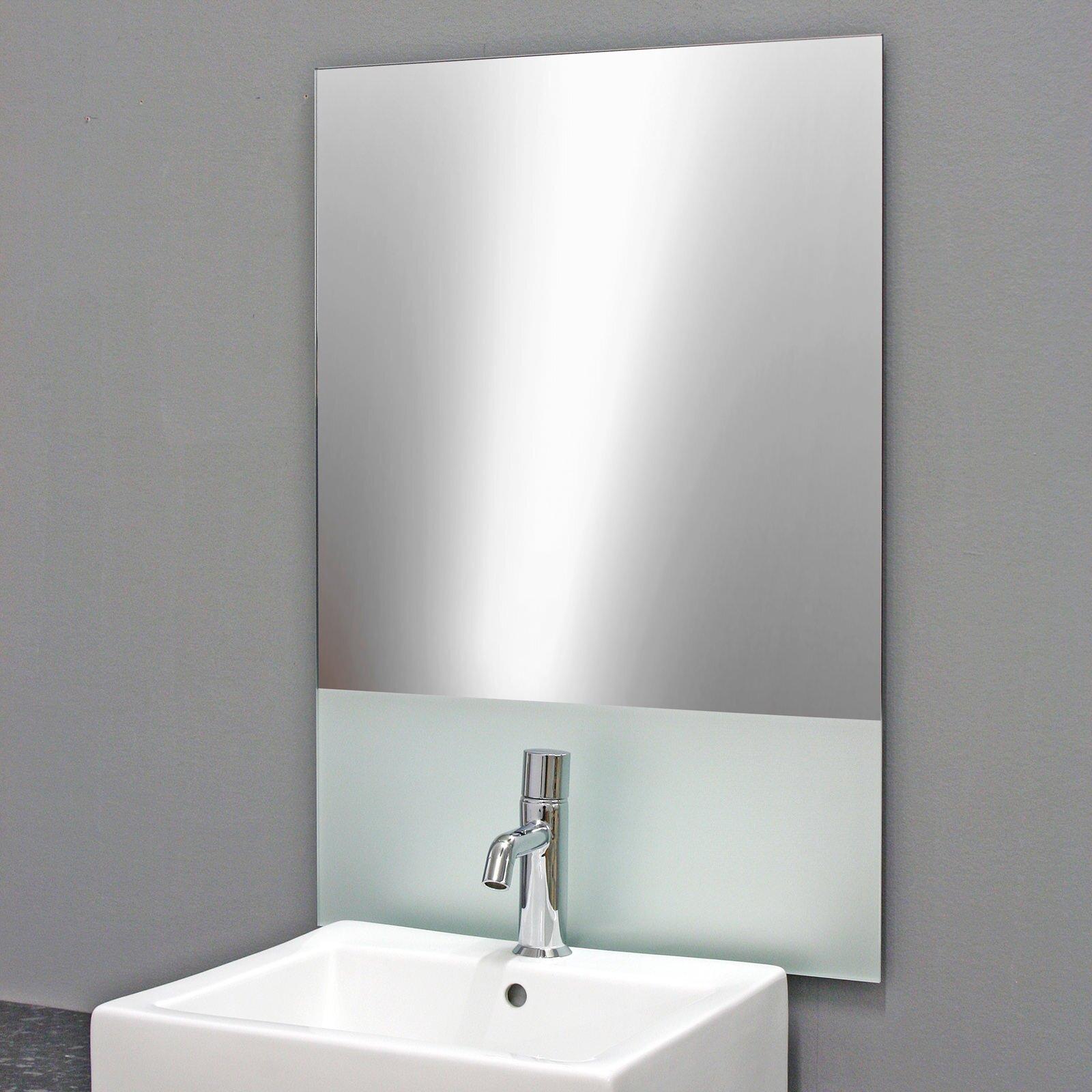 badezimmerspiegel scudo design badspiegel mit satiniert 109 00. Black Bedroom Furniture Sets. Home Design Ideas