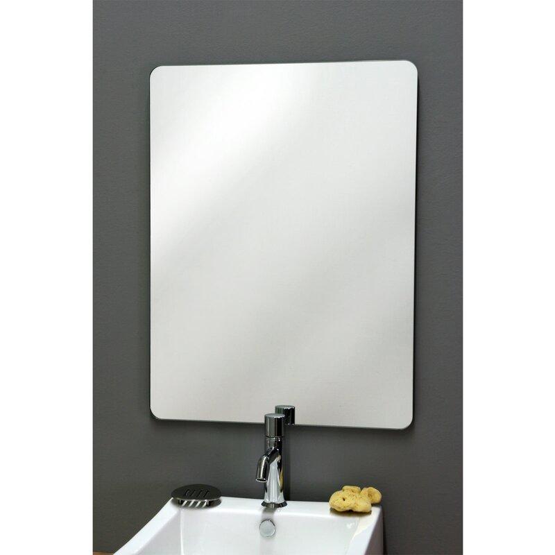 modernes badezimmer gestaltungsideen mit designer badspiegel am ... - Modernes Badezimmer Designer Badspiegel