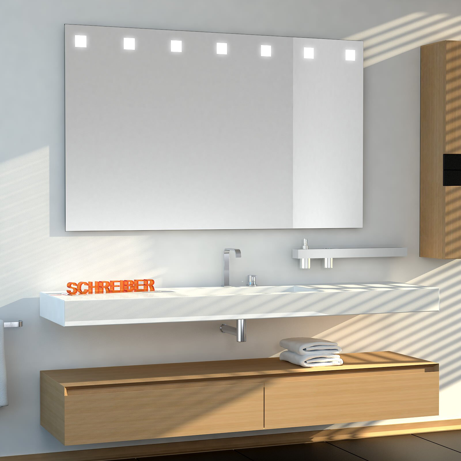 Badezimmerspiegel CARRE Top LEDplus
