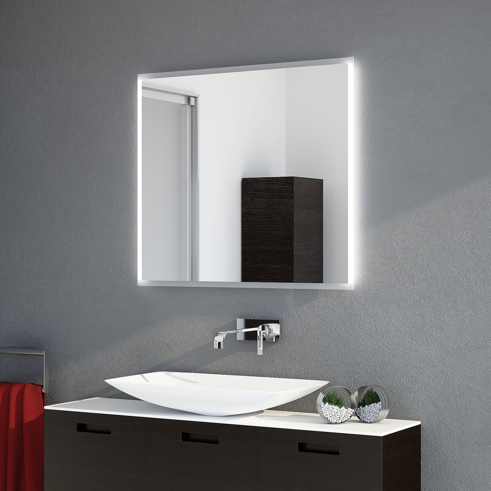 Verdeckte Spiegelhalterung  für jede Größe Montageset  Spiegelbefestigung
