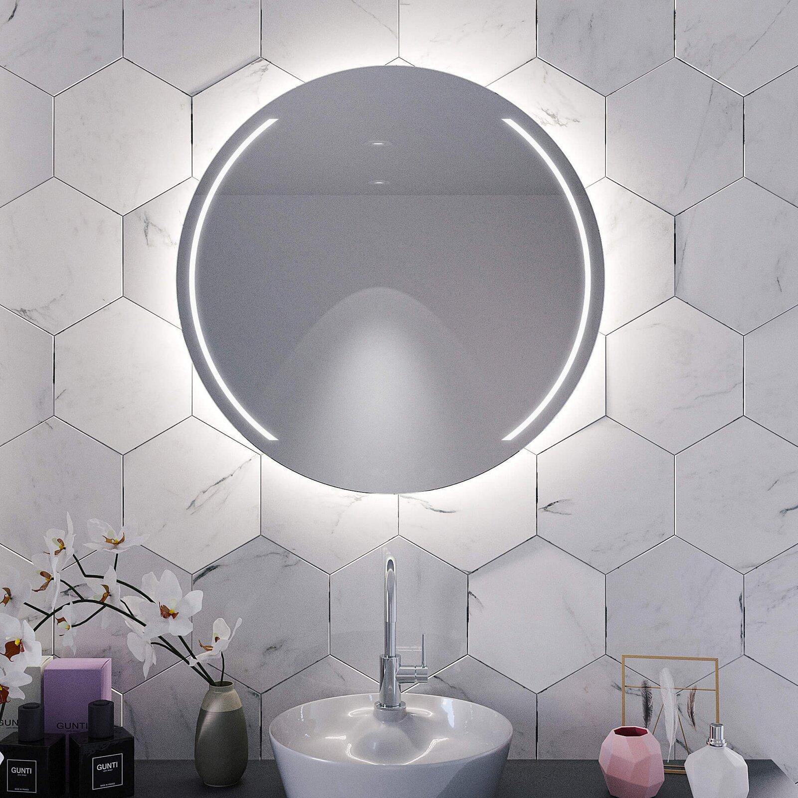 Badezimmerspiegel mit Beleuchtung Elegance Side rund