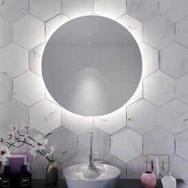 Badspiegel Rund Mit Beleuchtung Seitlich Riviera