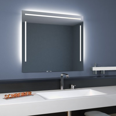 Energieffizienter LED-Badspiegel Linea